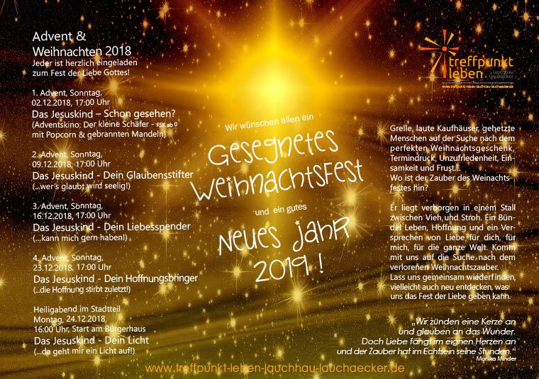 Advents- und Heiligabend-Gottesdienst in Lauchhau-Lauchäcker Stuttgart Vaihingen Büsnau