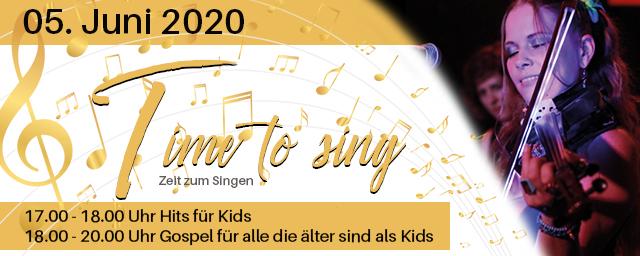 Time to Sing   Unter der Leitung von YVI SZONCSO