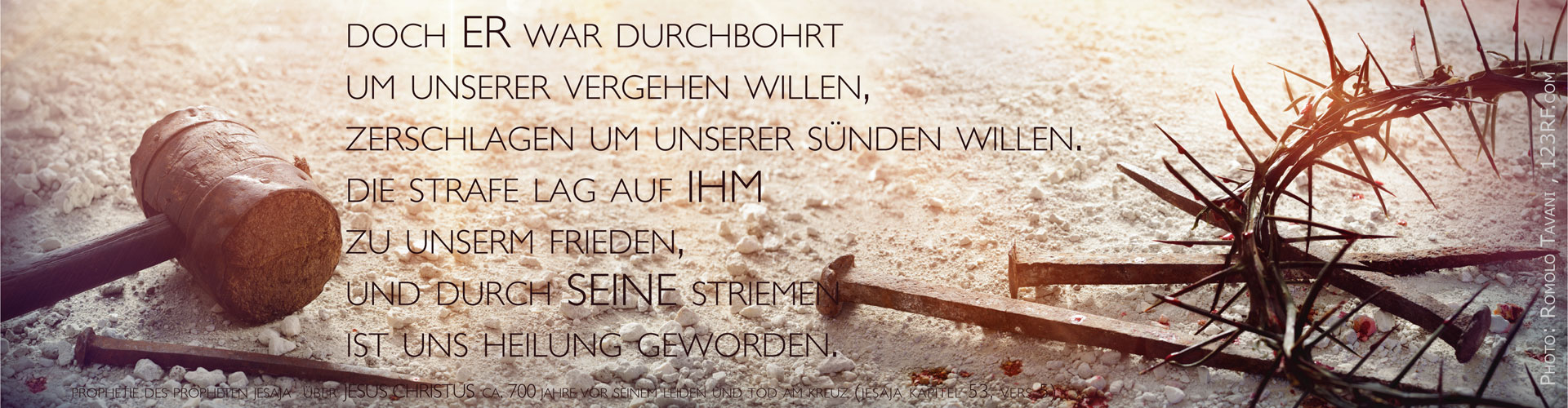 Die Strafe lag auf ihm, durch seine Wunden sind wir geheit. Karfreitag- und Oster-Gottesdienste in Stuttgart Vaihngen